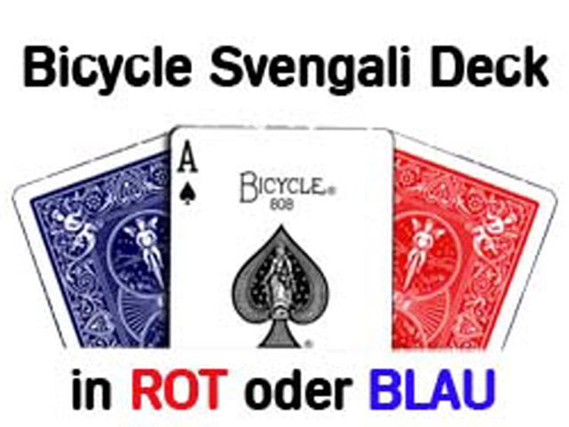 Svengali Deck Bicycle, Rot